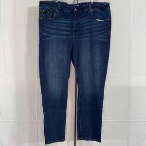 Molly & Isadora Dark Wash Skinny Jeans Sz 20W